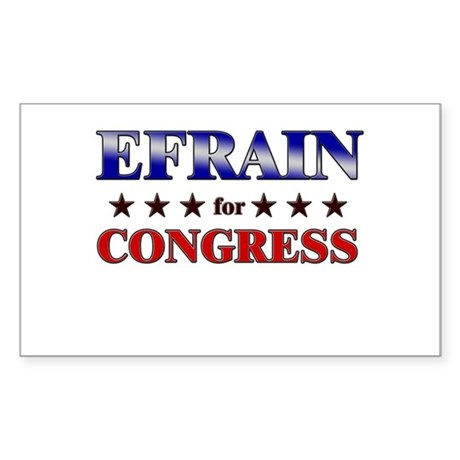 EFRAIN for congress Rectangle Sticker