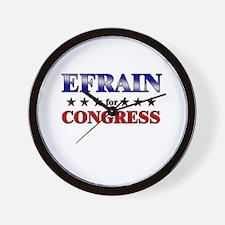 EFRAIN for congress Wall Clock