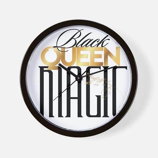 Black Queen Magic Wall Clock