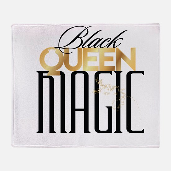 Black Queen Magic Throw Blanket