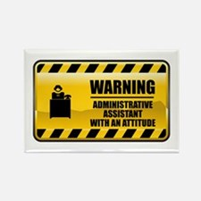 Warning Administrative Assistant Rectangle Magnet