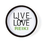 Live Love Reiki Wall Clock