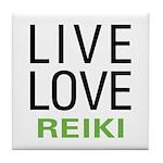 Live Love Reiki Tile Coaster