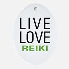 Live Love Reiki Oval Ornament