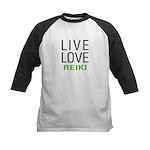 Live Love Reiki Kids Baseball Jersey