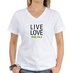 Live Love Reiki Women's V-Neck T-Shirt