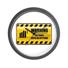 Warning Actuary Wall Clock