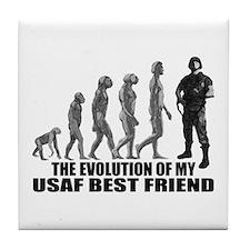 Evolution - My USAF Best Frnd Tile Coaster