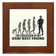 Evolution - My USAF Best Frnd Framed Tile