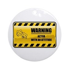 Warning Actor Ornament (Round)