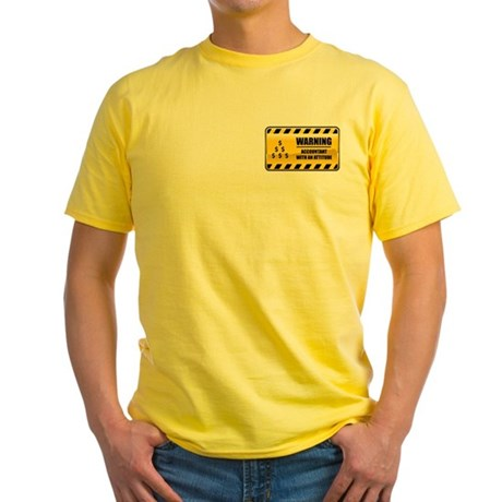 Warning Accountant Yellow T-Shirt