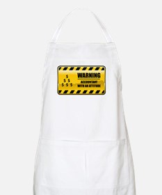Warning Accountant BBQ Apron