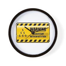 Warning Accountant Wall Clock