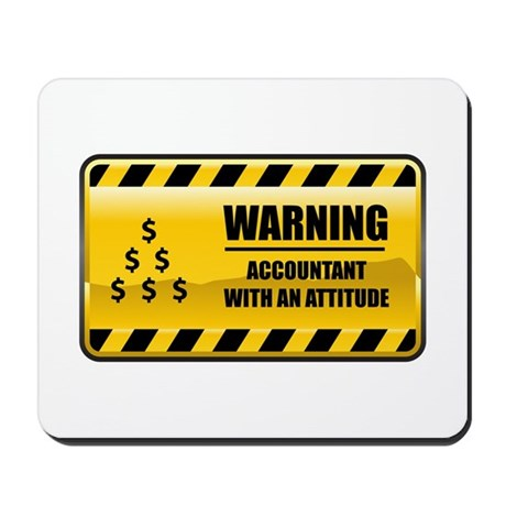 Warning Accountant Mousepad