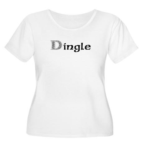 Dingle Women's Plus Size Scoop Neck T-Shirt
