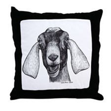 Nubian Goat Throw Pillow