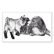 Pygmy Goat Kid and Australian Shepherd Decal