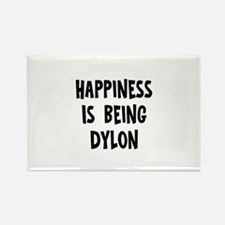 Happiness is being Dylon Rectangle Magnet