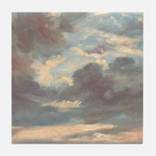 A Cloud Study Stormy Sunset by John C Tile Coaster