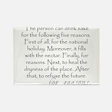 Five reasons to drink sake (funny Engrish) Magnets