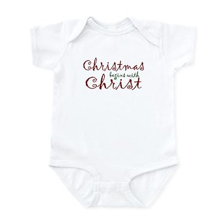 Christmas Begins with Christ Infant Bodysuit