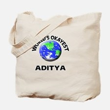 World's Okayest Aditya Tote Bag