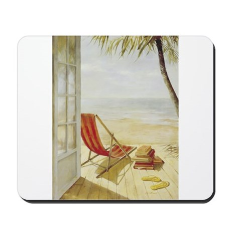 Relaxing on the Beach Mousepad