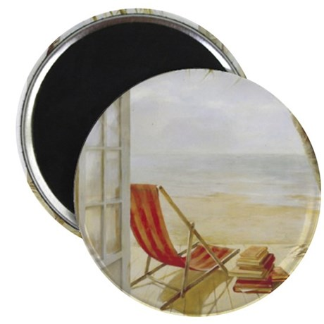 "Relaxing on the Beach 2.25"" Magnet (100 pack)"
