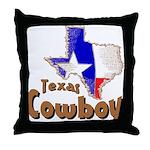 Texas Cowboy Throw Pillow