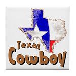 Texas Cowboy Tile Coaster