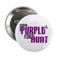 """I Wear Purple For My Aunt 6 (PC) 2.25"""" Button"""