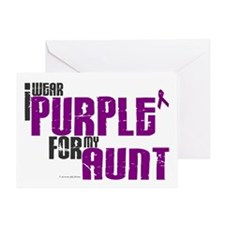 I Wear Purple For My Aunt 6 (PC) Greeting Card