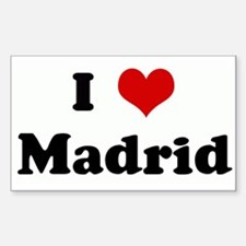 I Love Madrid Rectangle Decal