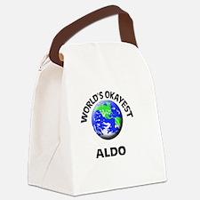 World's Okayest Aldo Canvas Lunch Bag