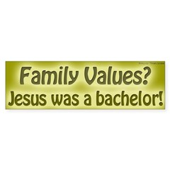 Question Family Values Bumper Bumper Sticker