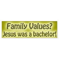 Question Family Values Bumper Sticker