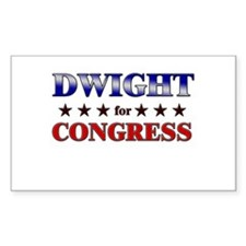DWIGHT for congress Rectangle Decal