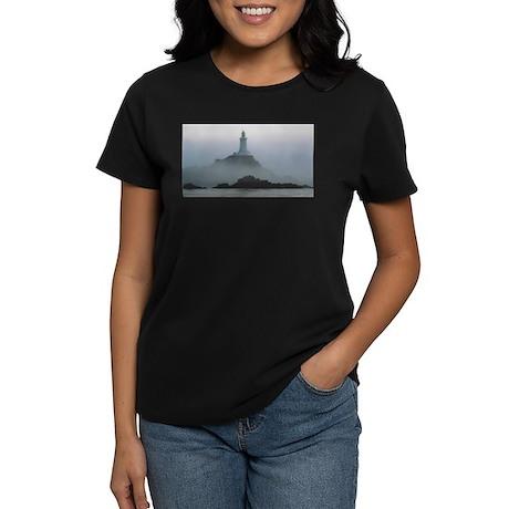 Lighthouse in the Fog Women's Dark T-Shirt