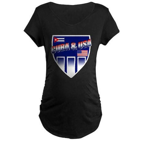 Cuba & USA Maternity Dark T-Shirt
