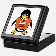 Stop Global Warming [Penguin] Keepsake Box