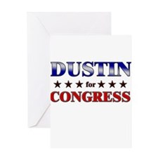 DUSTIN for congress Greeting Card