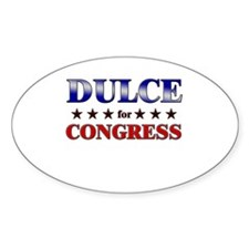 DULCE for congress Oval Decal