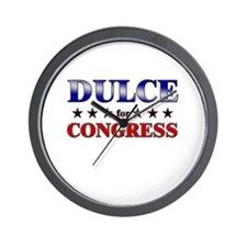 DULCE for congress Wall Clock