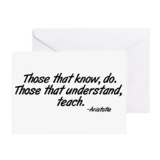 Those that understand, teach. Greeting Card