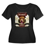 Diesel Pit Bull Stout Women's Plus Size Scoop Neck