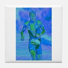 LOOKING STRONG PAINTING Tile Coaster