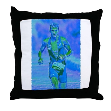 LOOKING STRONG PAINTING Throw Pillow
