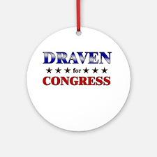 DRAVEN for congress Ornament (Round)