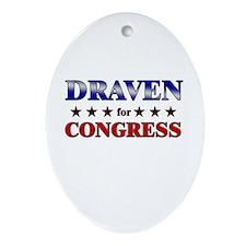 DRAVEN for congress Oval Ornament