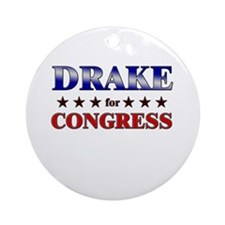 DRAKE for congress Ornament (Round)